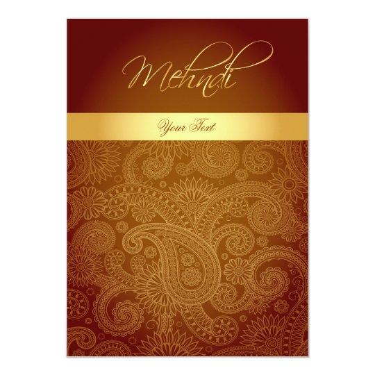 Mehndi Henna Invitation Card Zazzle Com