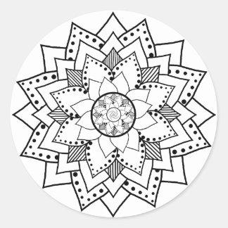 Mehndi / Henna style lotus flower blossom Sticker