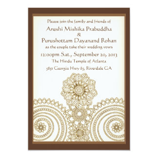 mehndi lace 5x7 wedding invitation card - Pakistani Wedding Invitations