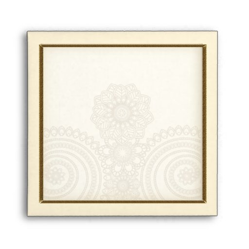 Mehndi Lace (Envelope for 5x5 inch Cards)