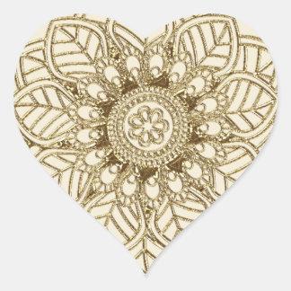 Mehndi Lace (Heart-shaped Stickers)