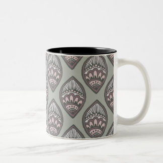 Mehndi Leaf Pattern Two-Tone Coffee Mug