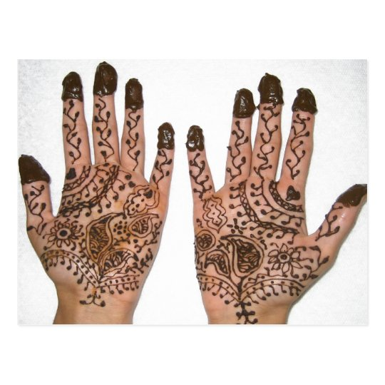 Mehndi Party Invitation Postcard Zazzle Com