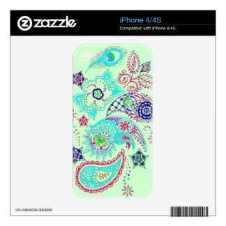 Mehndi pattern design decals for iPhone 4