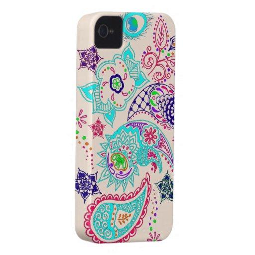 Mehndi pattern design iPhone 4 Case-Mate case
