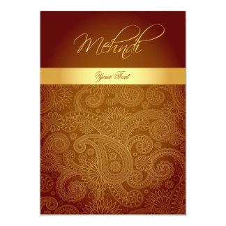 Mehndi/tarjeta de la invitación de la alheña