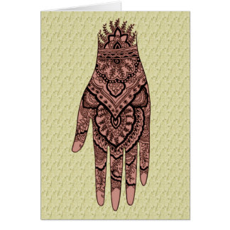 Mehndi Tattoo Art Design Blank Note Card