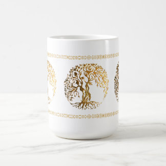 Mehndi Tree of Life (Gold) Coffee Mug