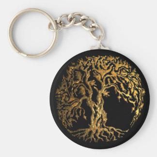 Mehndi Tree of Life (Gold) Keychain