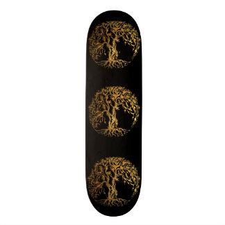 Mehndi Tree of Life (Gold) Skateboard Deck
