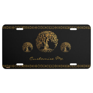 Mehndi Tree of Life (Henna) License Plate