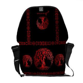 Mehndi Tree of Life (Henna) (Red) Messenger Bag