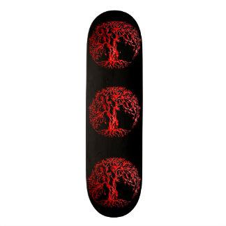 Mehndi Tree of Life (Henna) (Red) Skateboard Deck