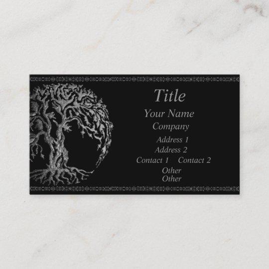 Mehndi Tree Of Life Henna Silver Business Card Zazzle Com