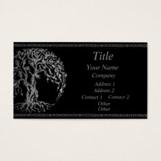 Mehndi Tree Of Life (henna) (silver) Business Card at Zazzle
