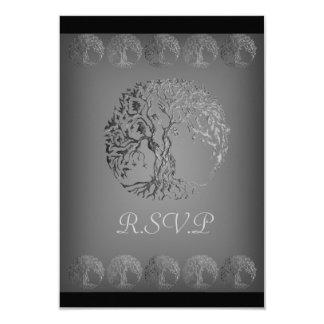 Mehndi Tree of Life (Henna) (Silver) Card