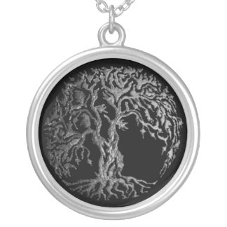 Mehndi Tree of Life (Henna) (Silver) Silver Plated Necklace