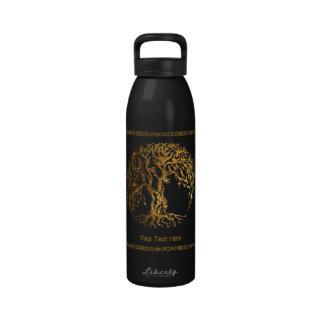 Mehndi Tree of Life (Henna) Reusable Water Bottle