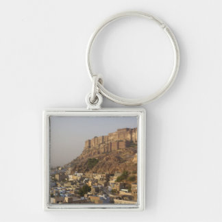 Mehrangarh Fort of Jodhpur. Rajasthan, INDIA. Silver-Colored Square Keychain