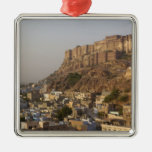 Mehrangarh Fort of Jodhpur. Rajasthan, INDIA. Square Metal Christmas Ornament