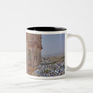 Mehrangarh Fort towering above Jodhpur, The Blue Two-Tone Coffee Mug