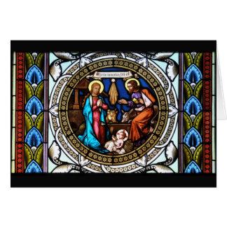 Mehrerau Collegiumskapelle Chapel Window Nativity Greeting Card