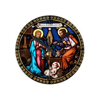 Mehrerau Collegiumskapelle Chapel Window Nativity Round Clock