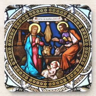 Mehrerau Collegiumskapelle Chapel Window Nativity Drink Coasters