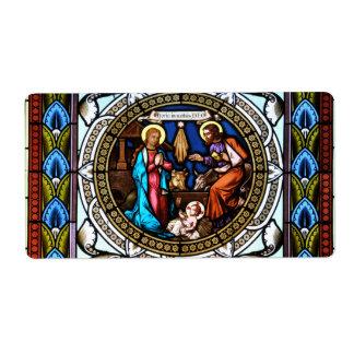 Mehrerau Collegiumskapelle Chapel Window Nativity Shipping Label