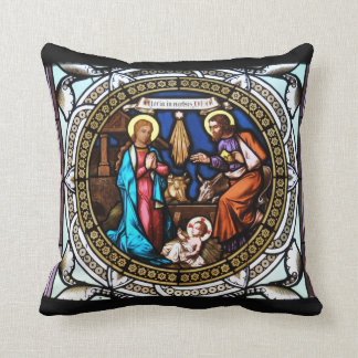 Mehrerau Collegiumskapelle Chapel Window Nativity Throw Pillows