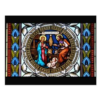 Mehrerau Collegiumskapelle Chapel Window Nativity Postcard