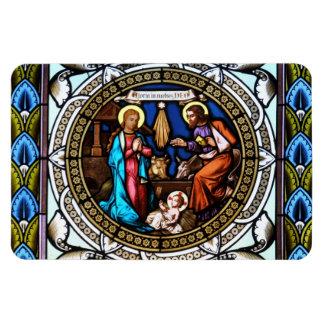 Mehrerau Collegiumskapelle Chapel Window Nativity Rectangular Photo Magnet