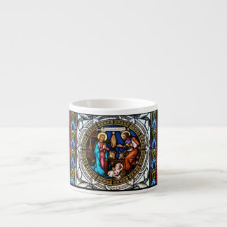 Mehrerau Collegiumskapelle Chapel Window Nativity 6 Oz Ceramic Espresso Cup