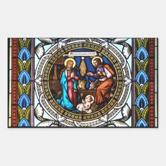 Mehrerau Collegiumskapelle Chapel Window Nativity Rectangular Sticker