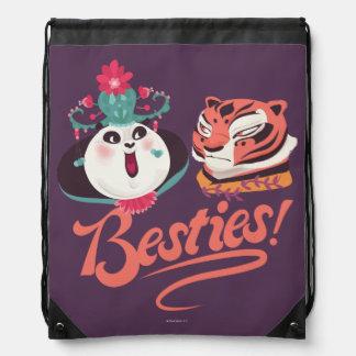 Mei Mei and Tigress - Besties Drawstring Bag