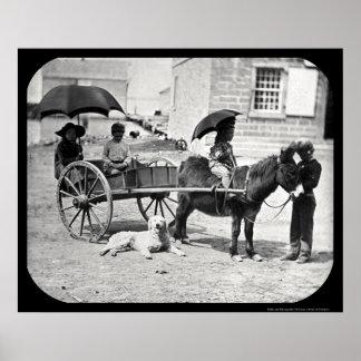 Meigs Children Daguerreotype 1850 Poster