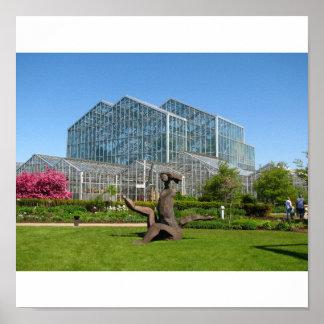 Meijer botánico y jardines de la escultura póster