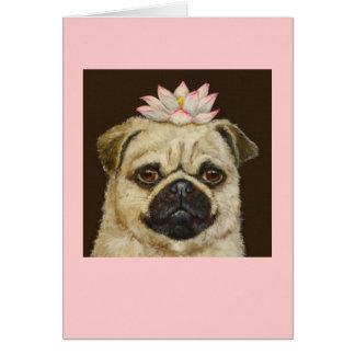Meili the pug card