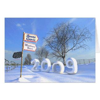 Meilleurs voeux pour 2009 greeting card