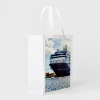 Mein Blue Bow at Bonaire Reusable Grocery Bag