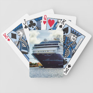 Mein Blue Bow Bicycle Playing Cards