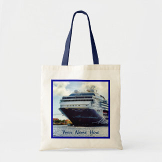 Mein Blue Bow Personalized Cruise Tote Bag