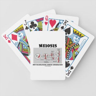 Meiosis apenas que cambia la información genética barajas de cartas