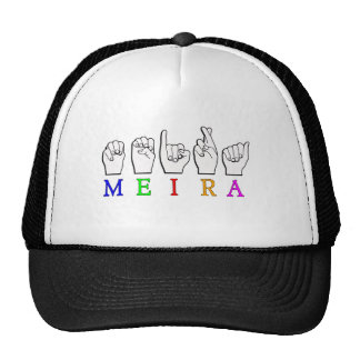 MEIRA FINGERSPELLED ASL NAME SIGN TRUCKER HAT