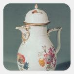 Meissen coffee pot, c.1740-50 square sticker