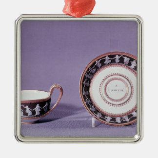 Meissen cup and saucer, late 18th century ornament