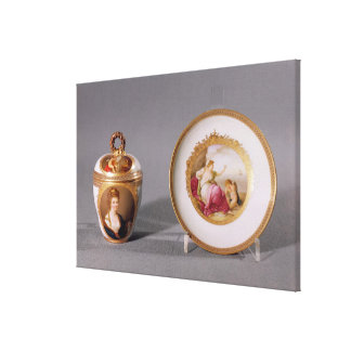 Meissen cup, cover and saucer canvas print