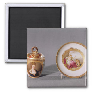 Meissen cup, cover and saucer magnet