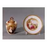Meissen cup, cover and saucer postcard