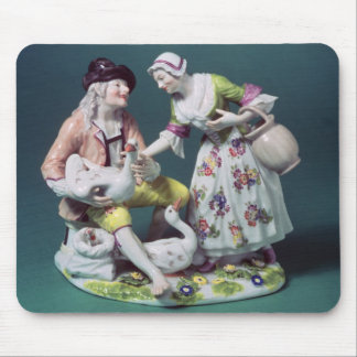 Meissen figure of a poultry seller, c.1750 mouse pad
